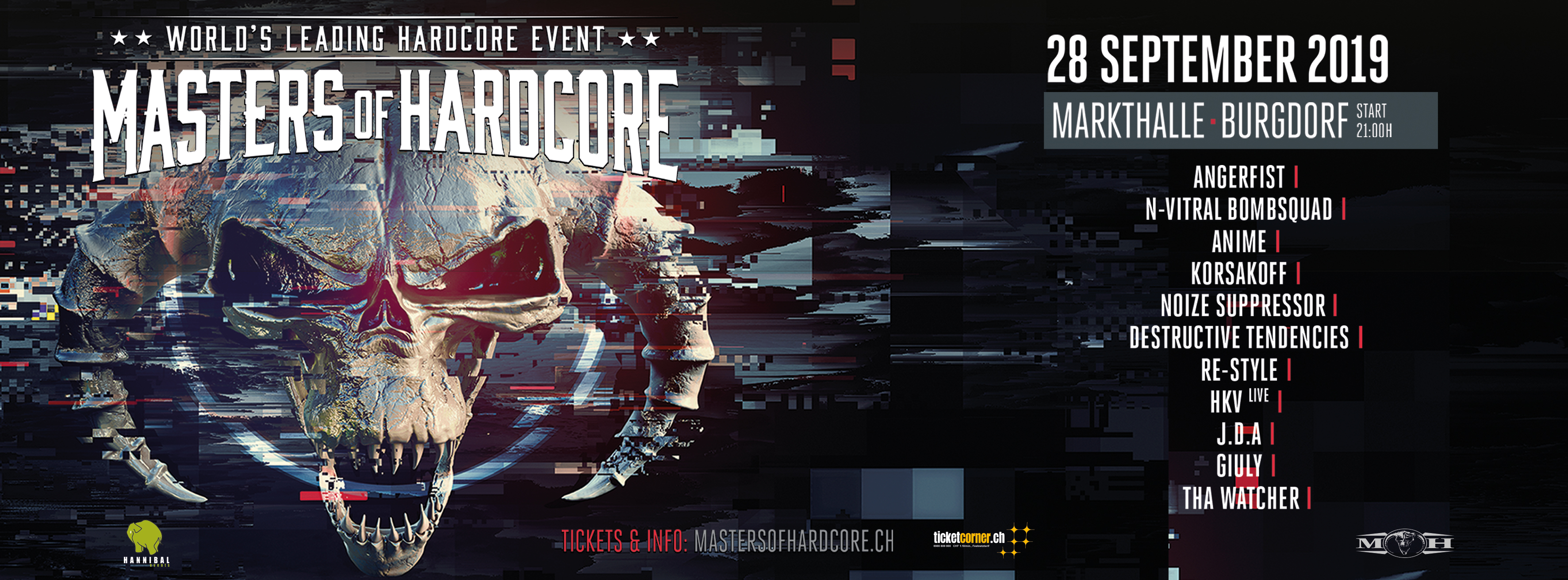 Masters Of Hardcore suisse 2019